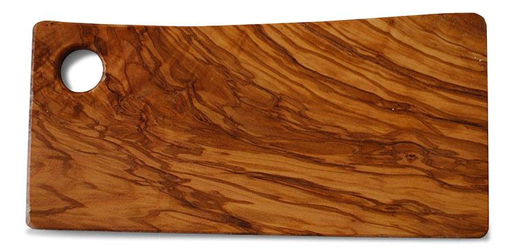Tagliere in legno di ulivo dal design particolare n.09