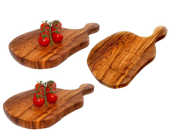 Tagliere in legno di ulivo dal design particolare n.14