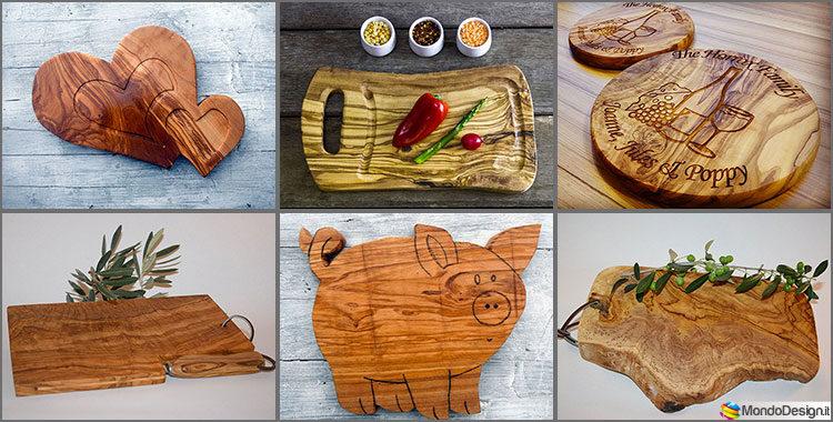 Taglieri in legno di ulivo 20 modelli molto particolari - Oggetti di design in legno ...