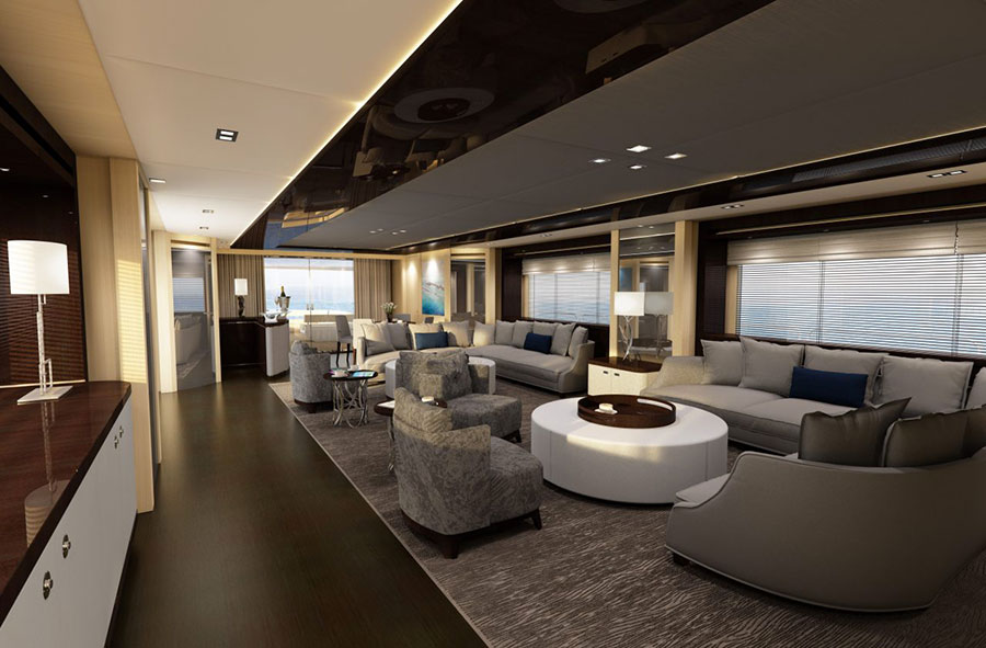 Interni da sogno per uno yacht di lusso n.04