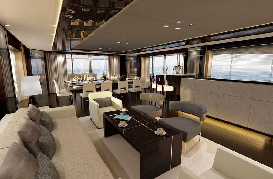 Interni da sogno per uno yacht di lusso n.05