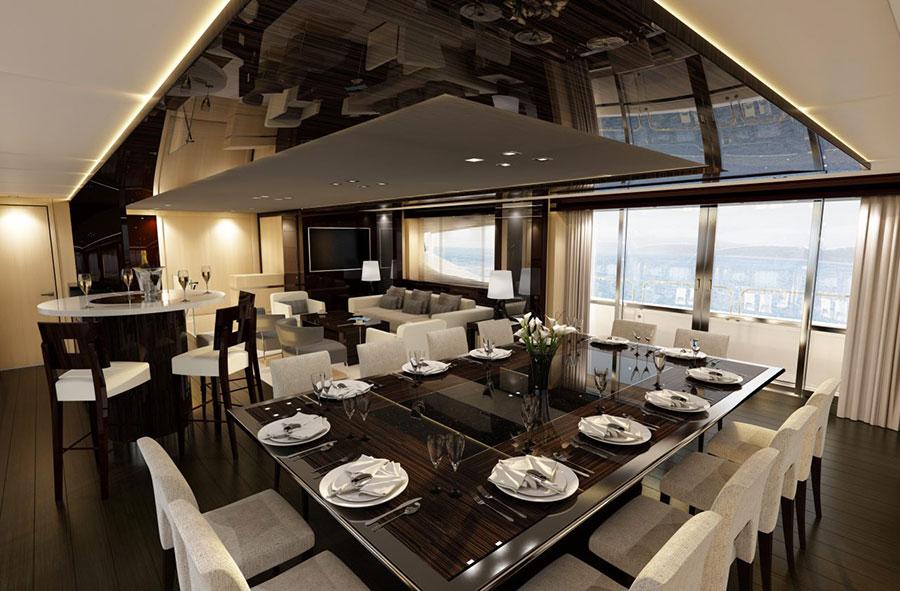 Interni da sogno per uno yacht di lusso n.06