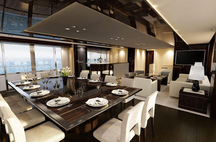 Yacht di lusso interni da sogno per un maestoso 47 metri for Interni di lusso