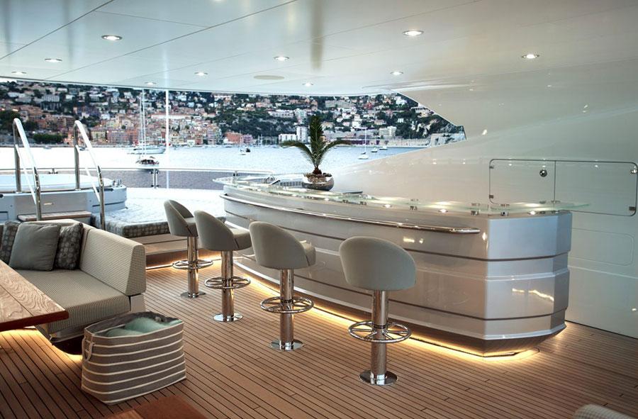 Interni da sogno per uno yacht di lusso n.08