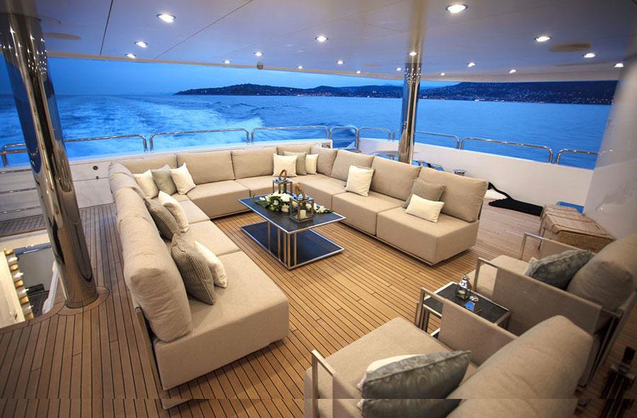Interni da sogno per uno yacht di lusso n.11