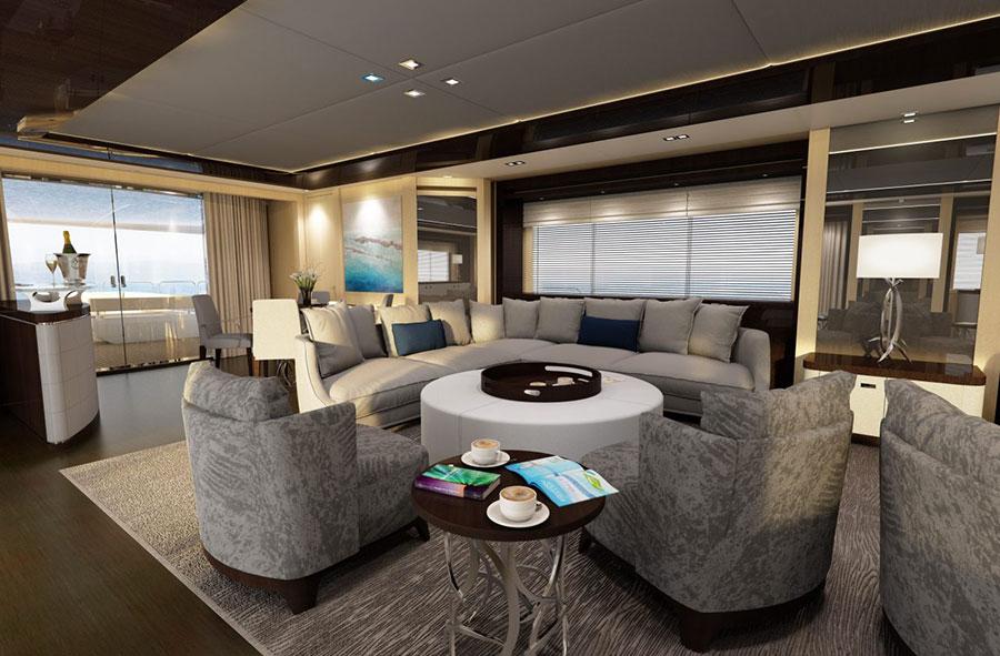Interni da sogno per uno yacht di lusso n.13