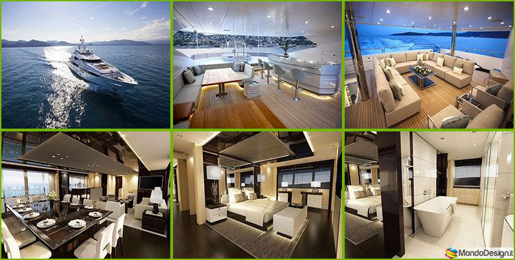 Yacht di lusso interni da sogno per un maestoso 47 metri for Foto case di lusso interni