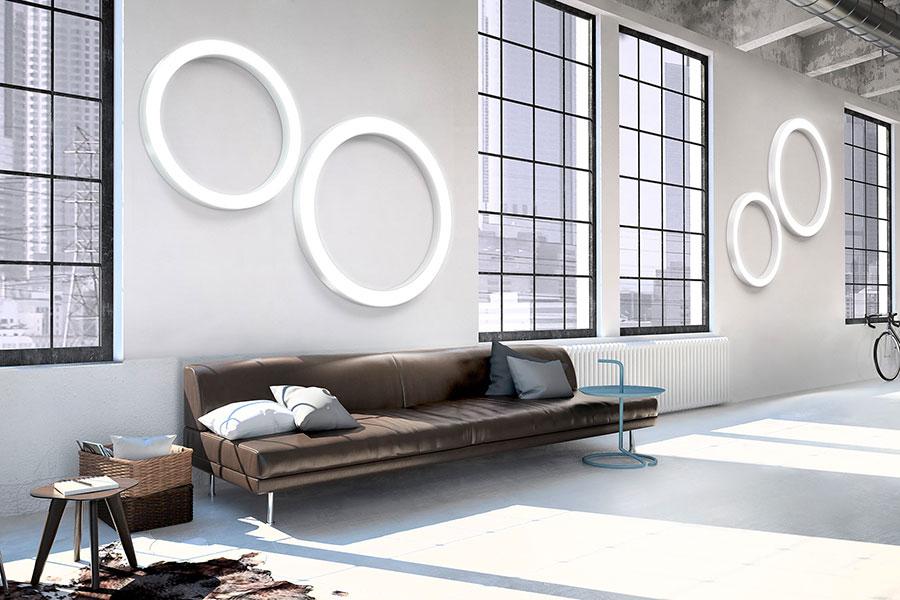 Modello di applique da parete per interni dal design originale n.09