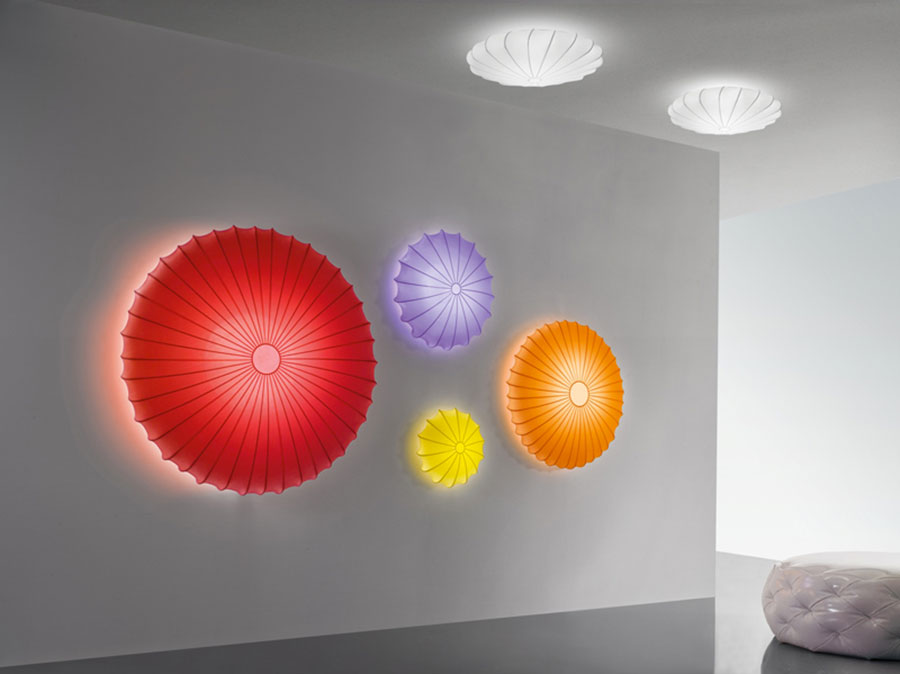 Idee di illuminazione per scale interne con applique n.04
