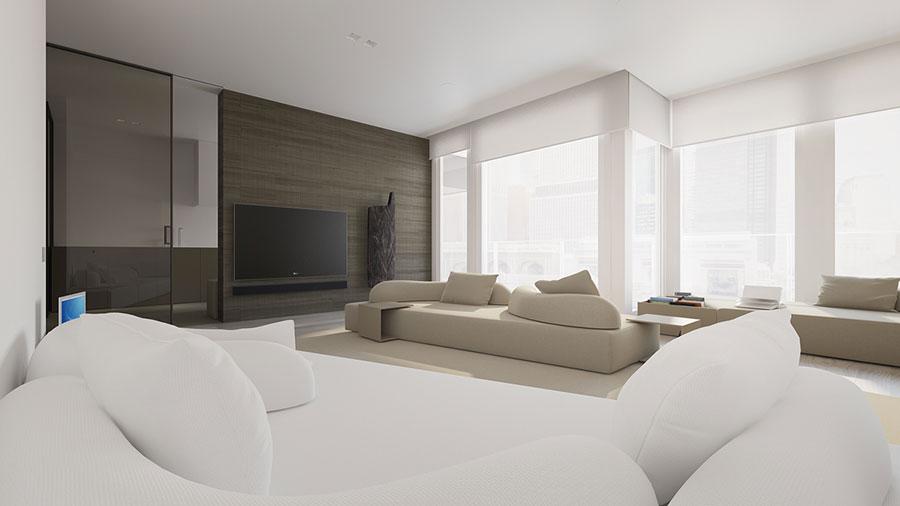 Idee di arredamento per un soggiorno minimal n.16