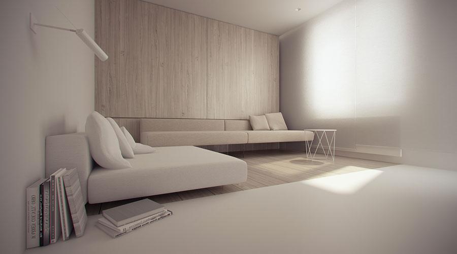 Idee di arredamento per un soggiorno minimal n.18