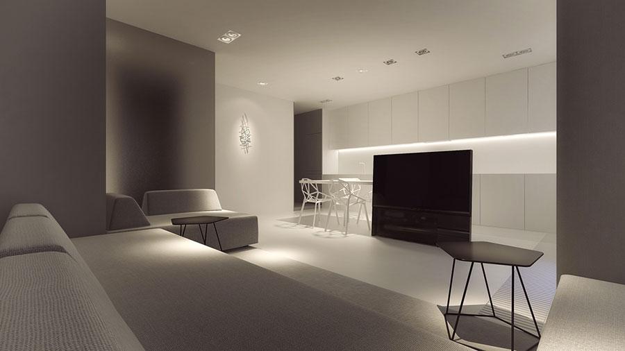 Idee di arredamento per un soggiorno minimal n.20