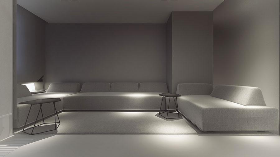 Idee di arredamento per un soggiorno minimal n.21