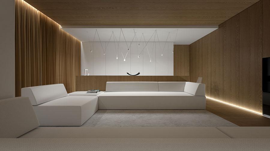 Idee di arredamento per un soggiorno minimal n.24