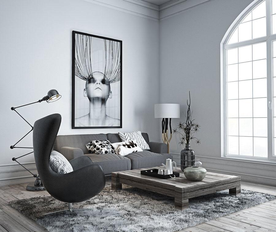 Arredamento con quadro in stile minimal n.01
