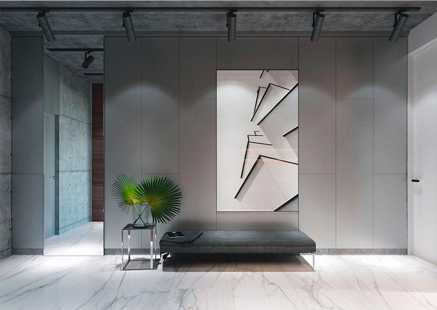 Arredamento con quadro in stile minimal n.02