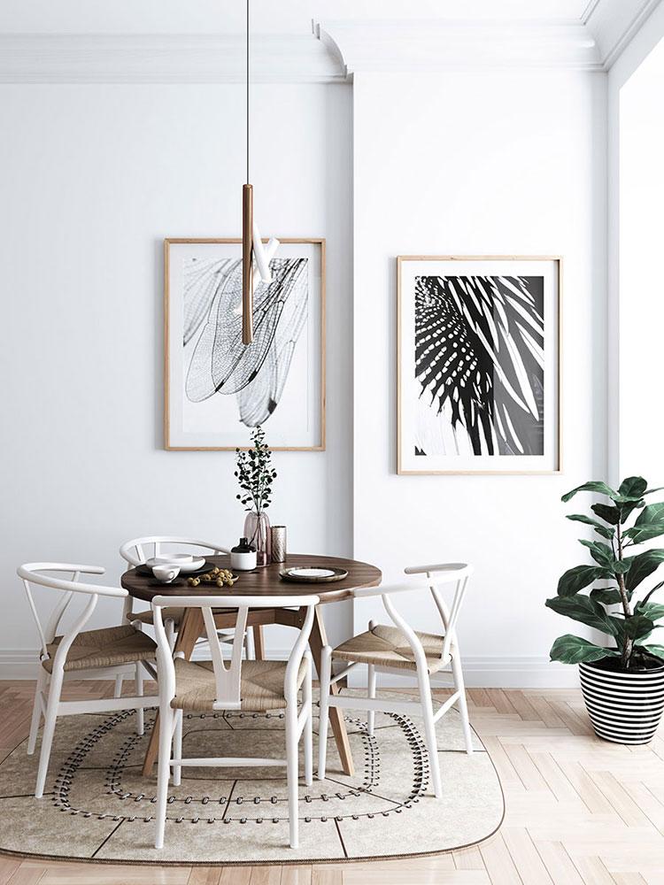 Arredamento con quadro in stile minimal n.07
