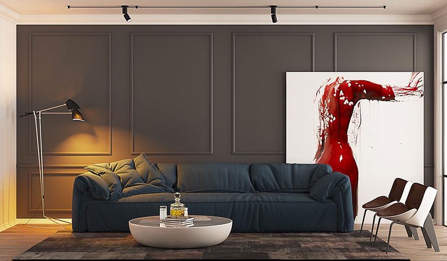Arredamento con quadro in stile moderno n.01
