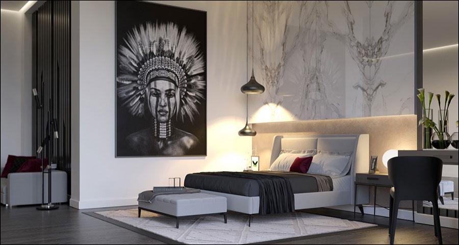 Arredamento con quadro in stile moderno n.03