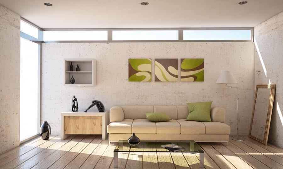 Arredamento con quadro in stile moderno n.04