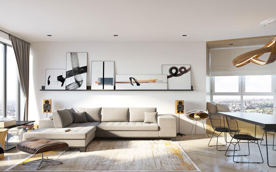 Come arredare coi quadri idee in stile moderno minimal for Quadri salotto