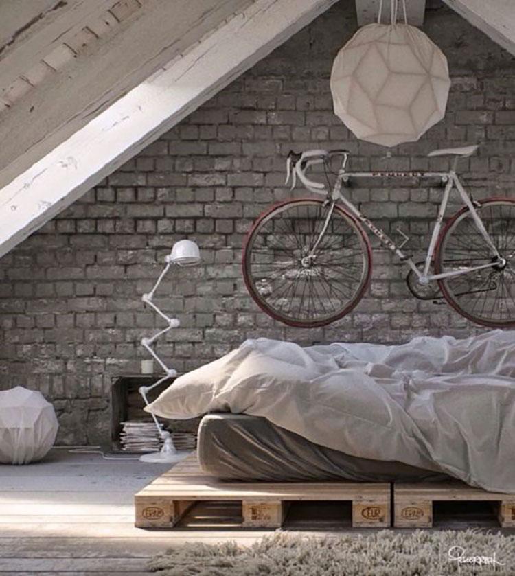 Camera da letto arredata in stile nordico n.01