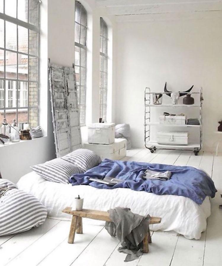 Camera da letto arredata in stile nordico n.04