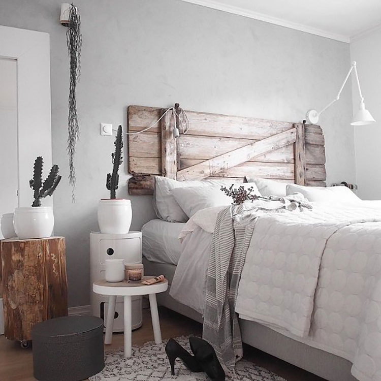 Camera da letto arredata in stile nordico n.05