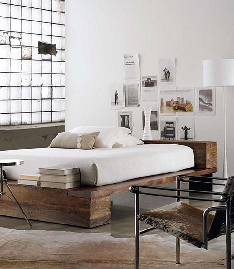 Camera da letto arredata in stile nordico n.06