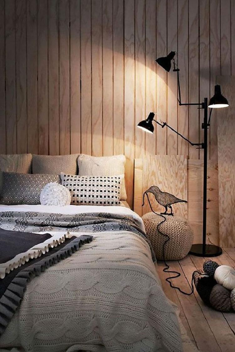 Camera da letto arredata in stile nordico n.08