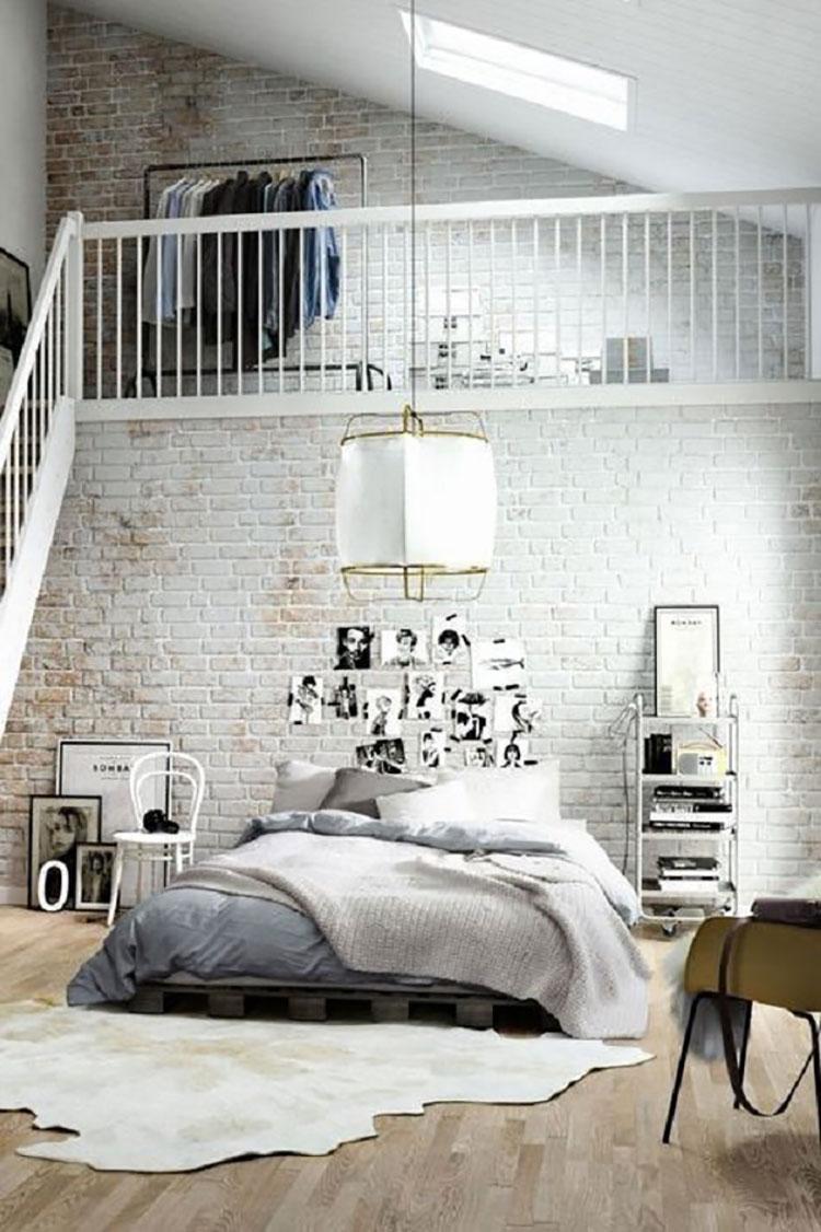 Camera da letto arredata in stile nordico n.09