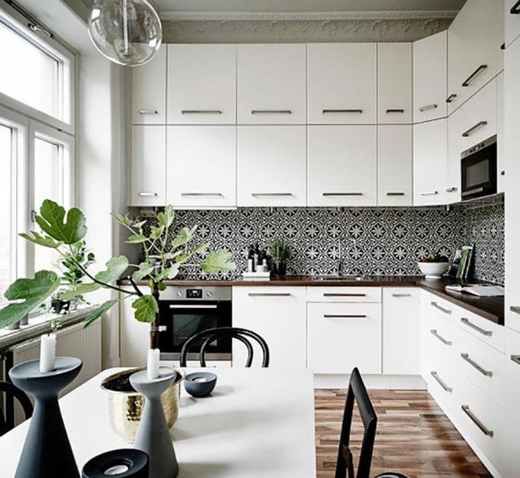 Cucina arredata in stile nordico n.01