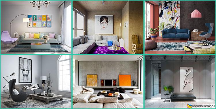 Ufficio Stile Moderno : Come arredare coi quadri idee in stile moderno minimal pop e