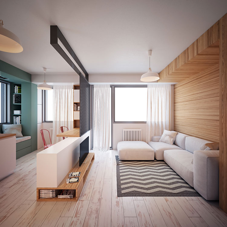 Come arredare una casa di 30 mq 6 progetti di design - Casa prefabbricata ikea ...