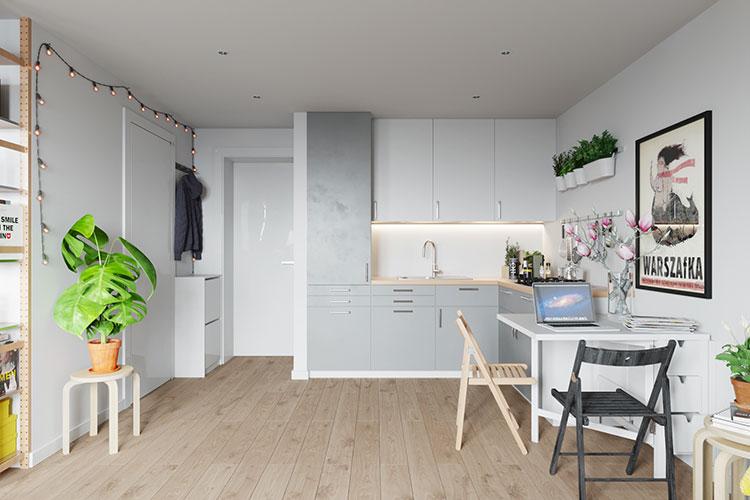 Come arredare una casa di 30 mq 6 progetti di design for Arredamento per piccoli ambienti