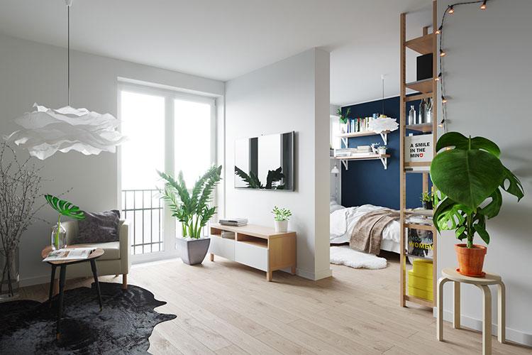 Come arredare una casa di 30 mq 6 progetti di design - Arredare monolocale ikea ...