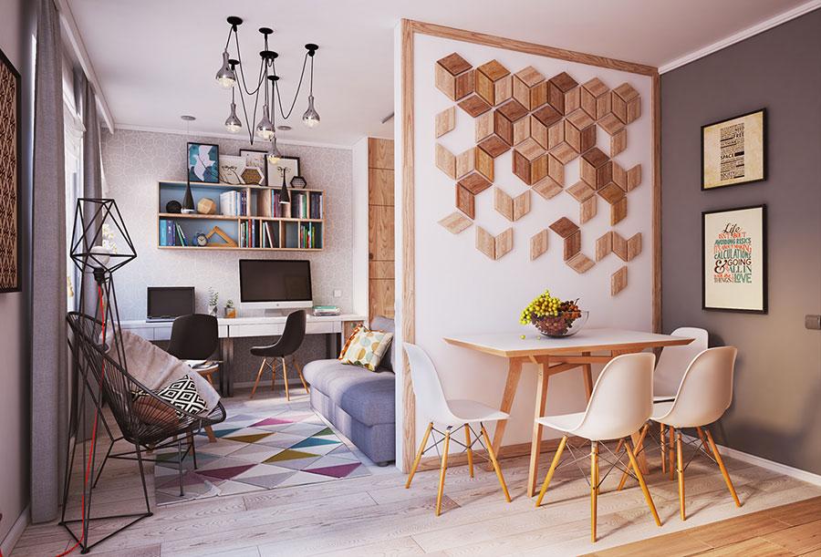 Appartamento di 40 mq con arredi di design n.01