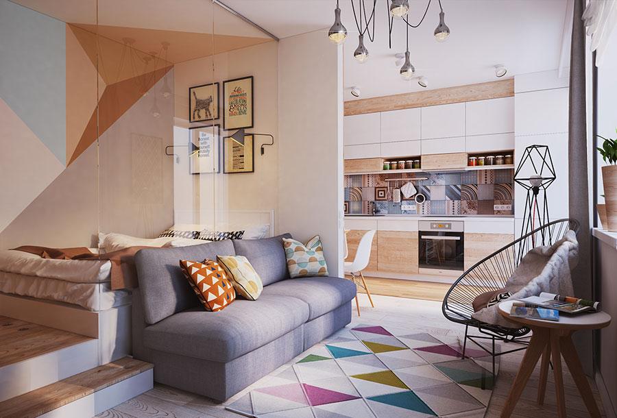 Appartamento di 40 mq con arredi di design n.02