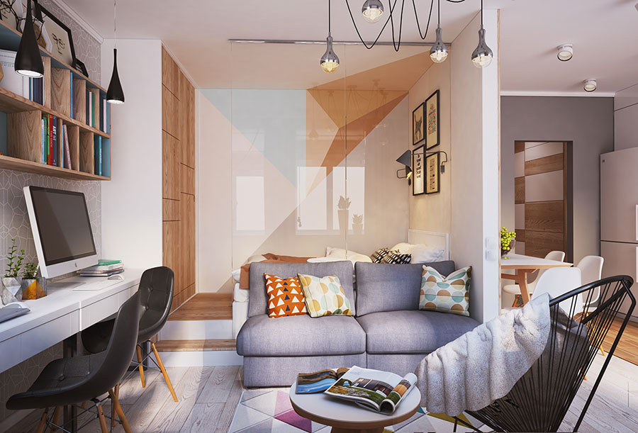 Appartamento di 40 mq con arredi di design n.03