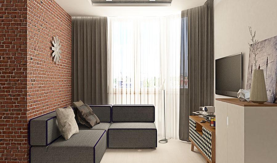 Appartamento di 40 mq con arredi di design n.10