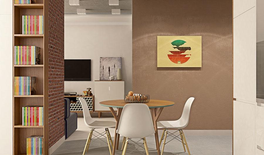 Appartamento di 40 mq con arredi di design n.11