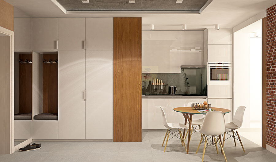 Appartamento di 40 mq con arredi di design n.12