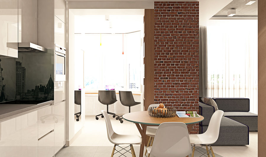 Appartamento di 40 mq con arredi di design n.14