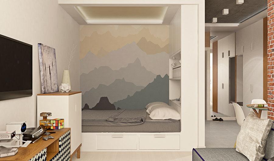 Appartamento di 40 mq con arredi di design n.16