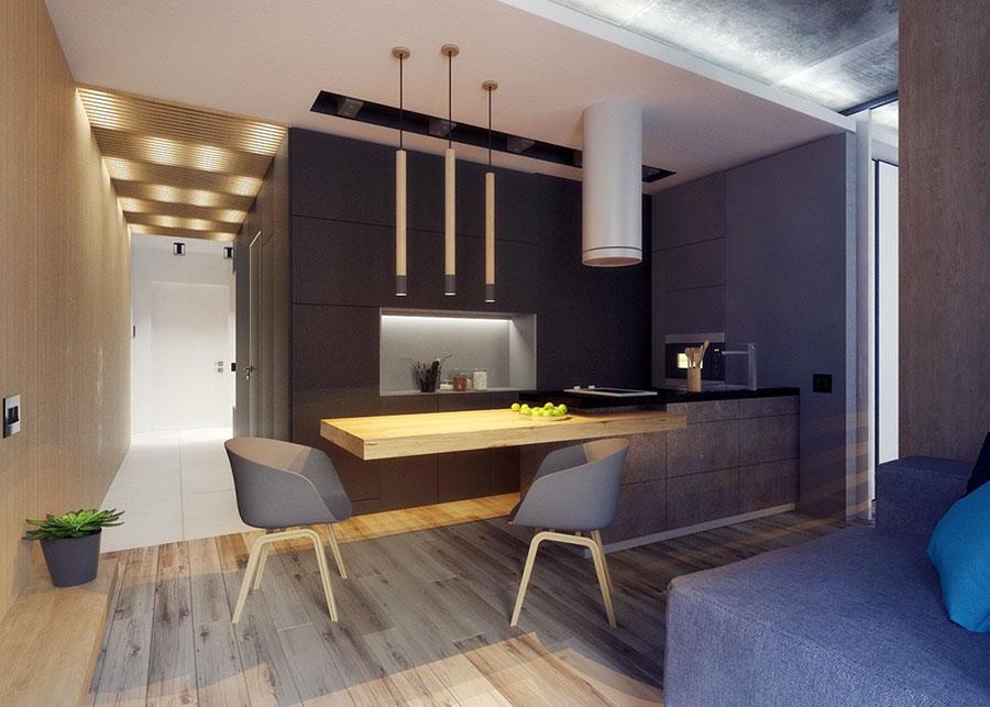Appartamento di 40 mq con arredi di design n.30