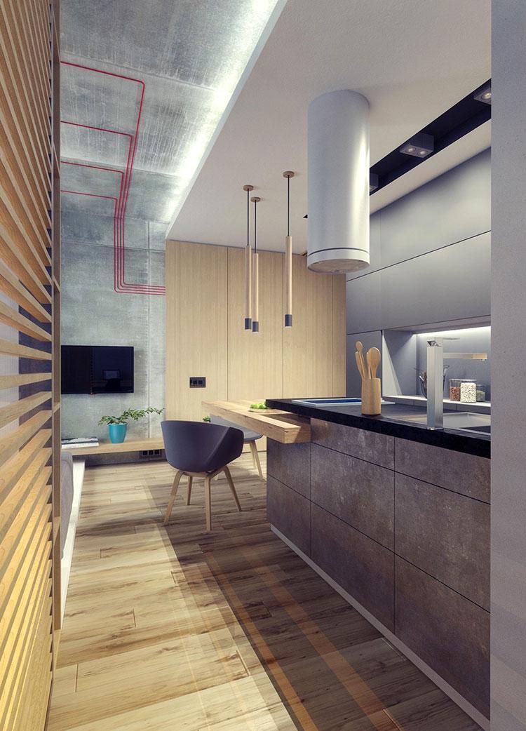 Appartamento di 40 mq con arredi di design n.32