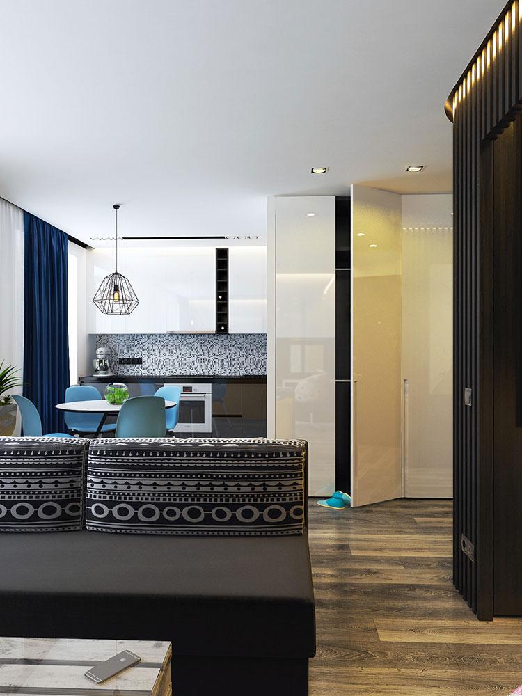 Appartamento di 40 mq con arredi di design n.39