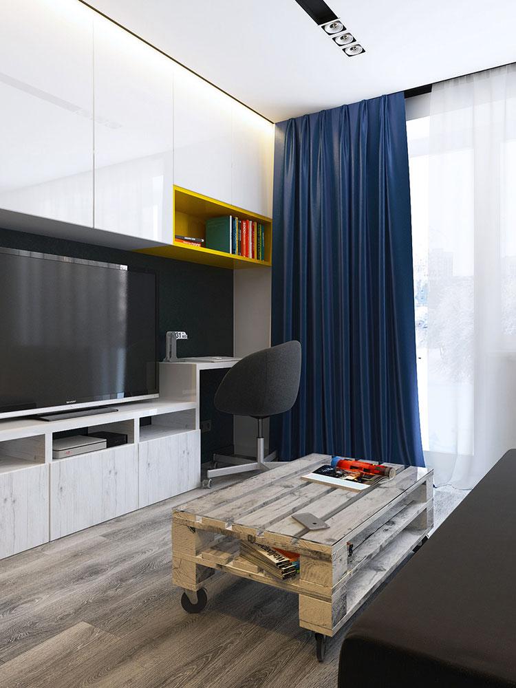 Appartamento di 40 mq con arredi di design n.40