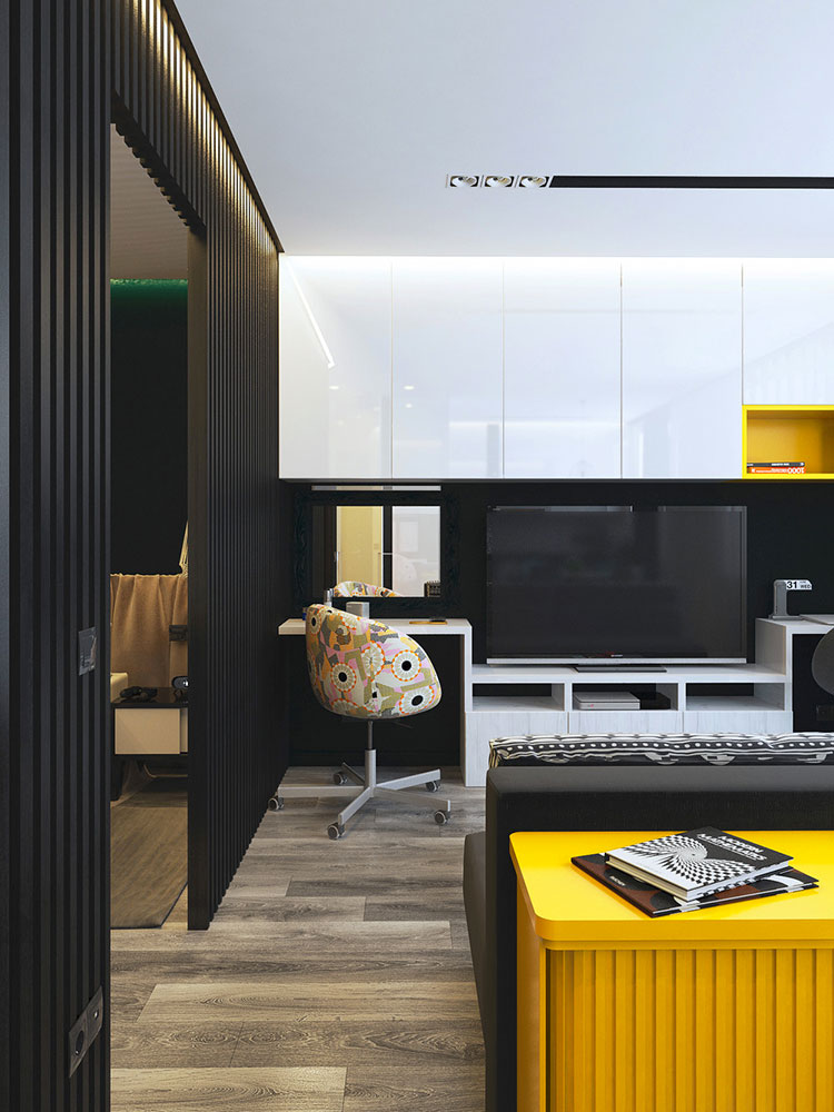 Appartamento di 40 mq con arredi di design n.41