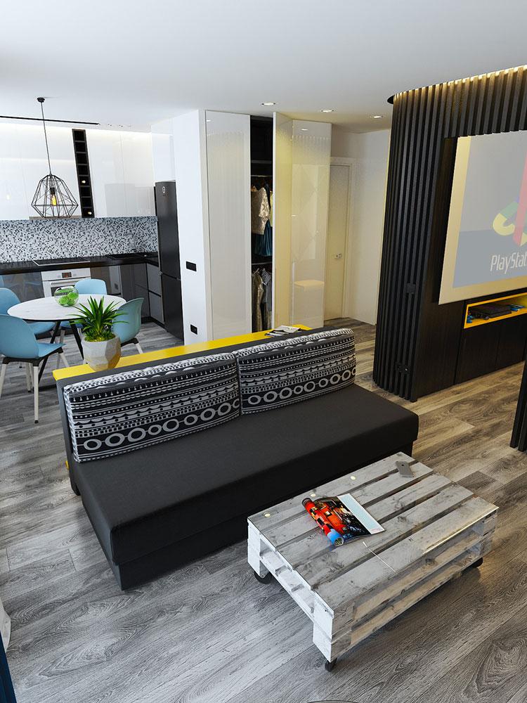 Appartamento di 40 mq con arredi di design n.42